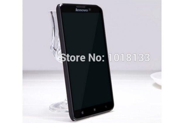 Фирменная задняя панель-крышка-накладка из тончайшего и прочного пластика для Lenovo S939 черная