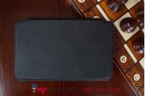 Фирменный оригинальный чехол обложка для Lenovo Ideatab A7-30 A3300 черный кожаный с визитницей