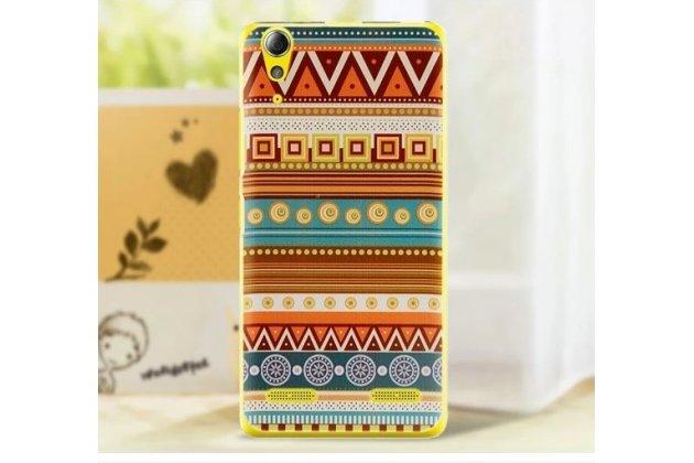 Фирменная роскошная задняя панель-чехол-накладка с безумно красивым расписным эклектичным узором на Lenovo K3 Music Lemon