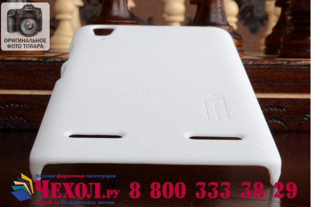 Фирменная задняя панель-крышка-накладка из тончайшего и прочного пластика для Lenovo K3 Music Lemon белая