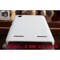 Фирменная задняя панель-крышка-накладка из тончайшего и прочного пластика для Lenovo K3 Music Lemon белая..
