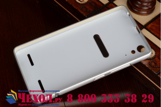 Фирменная металлическая задняя панель-крышка-накладка из тончайшего облегченного авиационного алюминия для Lenovo K3 Music Lemon серебристая