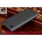 Фирменная задняя панель-крышка-накладка из тончайшего и прочного пластика для Lenovo K3 Music Lemon черная..