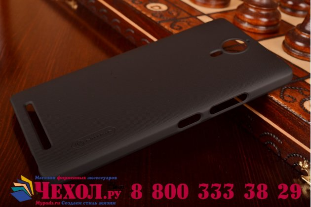 Фирменная задняя панель-крышка-накладка из тончайшего и прочного пластика для Lenovo K80/P90/P90 Pro черная
