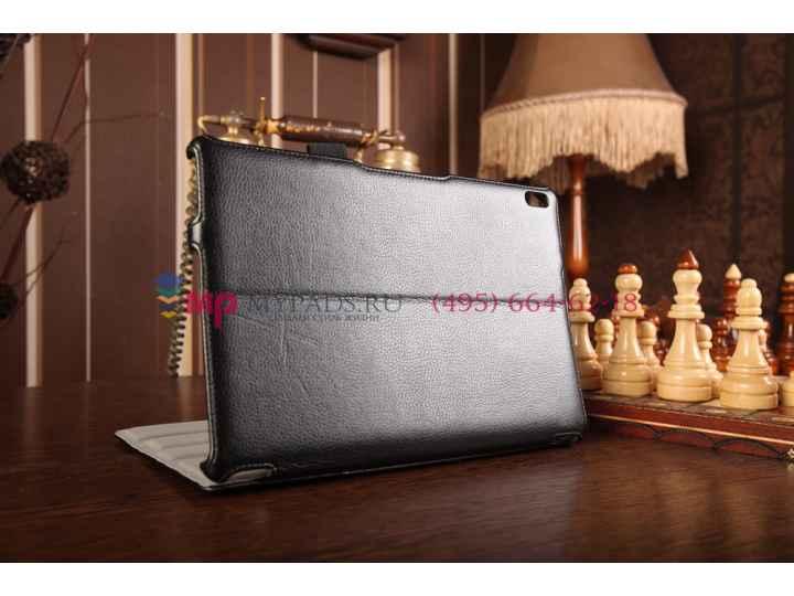 Фирменный чехол для Lenovo Ideatab A7600/A10-70 (59409691) с мульти-подставкой и держателем для руки черный на..