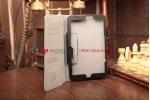 """Фирменный чехол-обложка для Lenovo Miix 2 (59409331) с визитницей и держателем для руки черный натуральная кожа """"Prestige"""" Италия"""