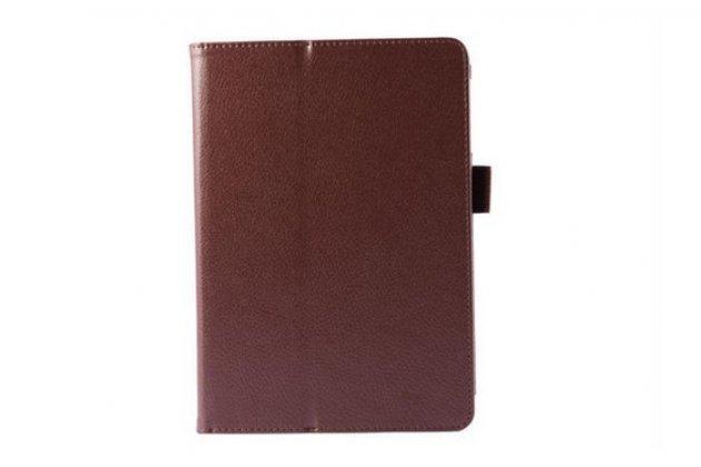 """Фирменный оригинальный чехол обложка с подставкой для Lenovo Miix 3 8.0 / Miix3-830 7.85 """" коричневый кожаный"""