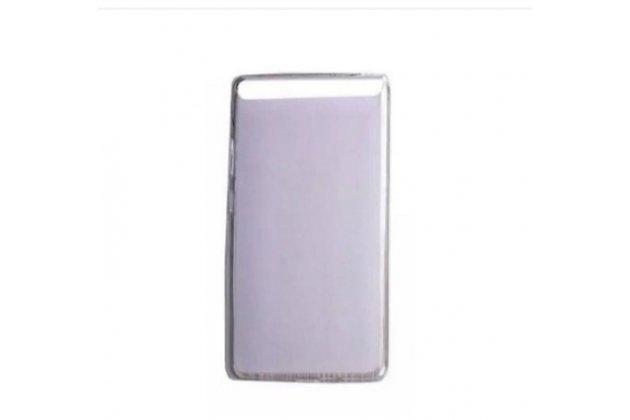 """Фирменная ультра-тонкая полимерная из мягкого качественного силикона задняя панель-чехол-накладка для Lenovo Phab Plus PB1-770N/770M 6.8"""" ZA070019RU белая"""