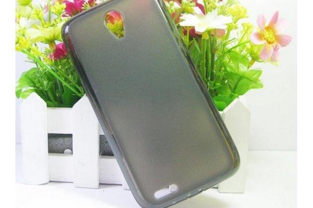 Фирменная ультра-тонкая полимерная из мягкого качественного силикона задняя панель-чехол-накладка для Lenovo S650 черная