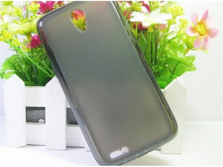 Фирменная ультра-тонкая полимерная из мягкого качественного силикона задняя панель-чехол-накладка для Lenovo S..