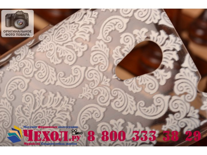 Фирменная роскошная задняя панель-чехол-накладка с расписным узором для Lenovo S650 прозрачная белая..
