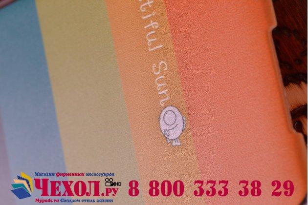 """Фирменная необычная из легчайшего и тончайшего пластика задняя панель-чехол-накладка для Lenovo S850 """"тематика Все цвета Радуги"""""""