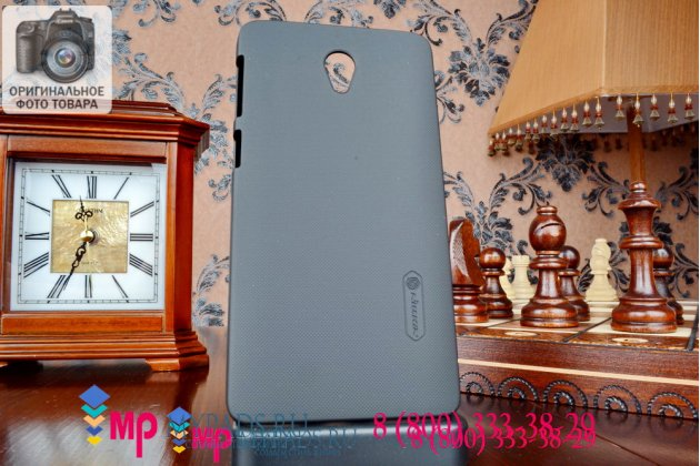 Фирменная задняя панель-крышка-накладка из тончайшего и прочного пластика для Lenovo S860 черная