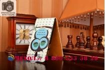 """Фирменный вертикальный откидной чехол-флип для Lenovo S860  """"тематика Сова"""""""