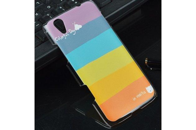 """Фирменная необычная из легчайшего и тончайшего пластика задняя панель-чехол-накладка для Lenovo S960 Vibe X """"тематика Все цвета Радуги"""""""