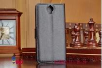 Фирменный чехол-книжка из качественной импортной кожи для Lenovo S960 Vibe X черный