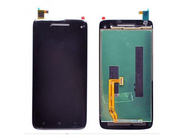 Фирменный LCD-ЖК-сенсорный дисплей-экран-стекло с тачскрином на телефон Lenovo S960 Vibe X черный + гарантия..