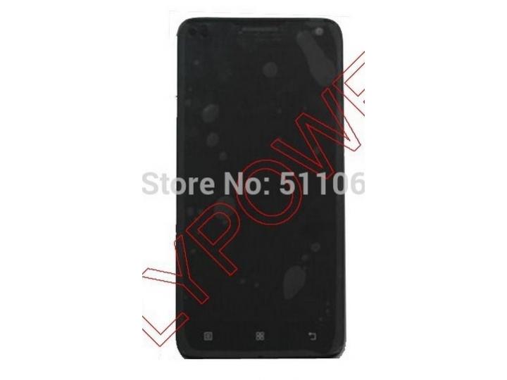 Фирменный LCD-ЖК-сенсорный дисплей-экран-стекло с тачскрином на телефон Lenovo Sisley S90 черный + гарантия..