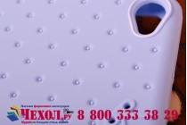 """Фирменная необычная уникальная полимерная мягкая задняя панель-чехол-накладка для Lenovo Sisley S90 """"тематика Андроид в черничном шоколаде"""""""