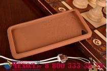 """Фирменная необычная уникальная полимерная мягкая задняя панель-чехол-накладка для Lenovo Sisley S90 """"тематика Андроид в тёмном Шоколаде"""""""