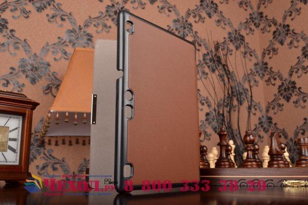 """Фирменный умный чехол самый тонкий в мире для планшета Lenovo TAB 2 A10-70F / Tab 2 A10-70L """"Il Sottile"""" коричневый кожаный"""
