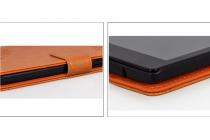 """Фирменный чехол с красивым узором для планшета Lenovo TAB 2 A7-20F 7.0"""" / 59444653"""" оранжевый натуральная кожа Италия"""