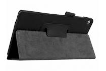 """Фирменный оригинальный чехол обложка с подставкой для Lenovo Tab 2 A7-20F 7.0"""" чёрный кожаный"""