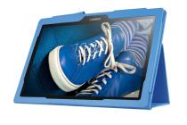 Чехол для Lenovo Tab 2 A10-30 / A10-30L / ZA0D0048RU / ZA0D0053RU /TAB 2 X30 16GB LTE / TB2-X30L голубой кожаный