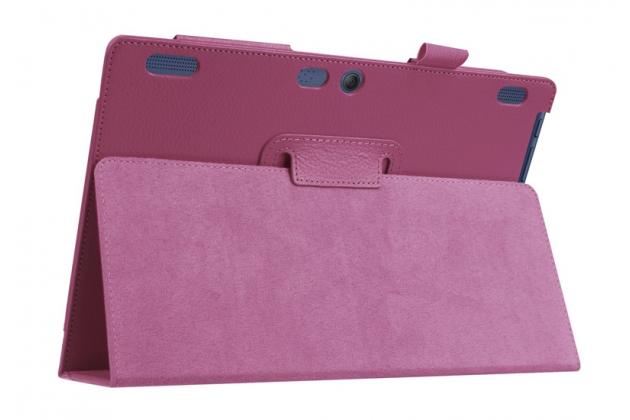 Чехол для Lenovo Tab 2 A10-30 / A10-30L  ZA0D0048RU / ZA0D0053RU /TAB 2 X30 16GB LTE / TB2-X30L фиолетовый кожаный