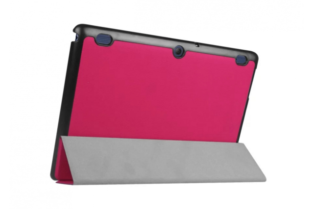 """Фирменный умный тонкий чехол для Lenovo Tab 2 A10-30 / A10-30L / ZA0D0048RU / ZA0D0053RU /TAB 2 X30 16GB LTE / TB2-X30L  """"Il Sottile"""" розовый пластиковый"""