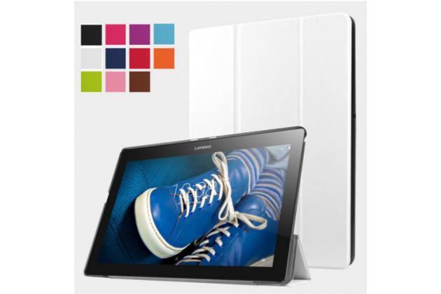 """Фирменный умный тонкий чехол для Lenovo Tab 2 A10-30 / A10-30L / ZA0D0048RU / ZA0D0053RU /TAB 2 X30 16GB LTE / TB2-X30L """"Il Sottile"""" белый пластиковый"""