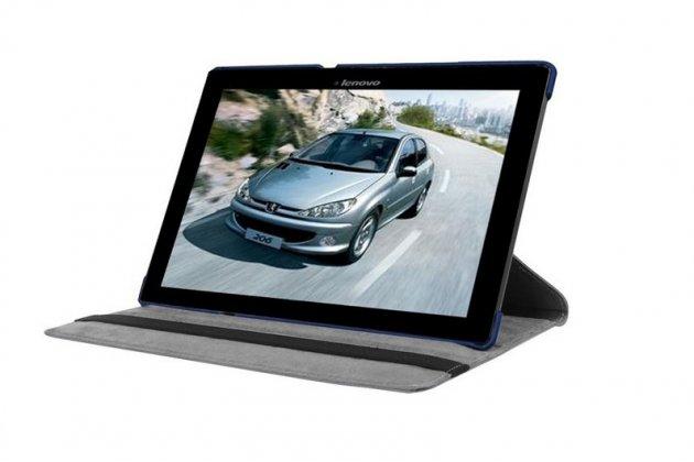 """Чехол для планшета Lenovo Tab 2 A10-70L / A10-70F (MediaTek MT8732/10.1"""" IPS 1920*1200) поворотный роторный оборотный синий кожаный"""