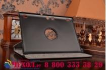 Чехол для планшета Lenovo TAB 2 A10-70F / Tab 2 A10-70L поворотный роторный оборотный черный кожаный