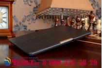 """Фирменный умный чехол самый тонкий в мире для планшета Lenovo TAB 2 A10-70F / Tab 2 A10-70L """"Il Sottile"""" черный кожаный"""
