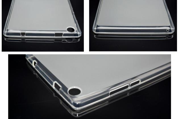 """Фирменная ультра-тонкая полимерная из мягкого качественного силикона задняя панель-чехол-накладка для Lenovo Tab 2 A8-50F/ A8-50L / A8-50LC (MediaTek MT8161 /8.0"""" IPS 1280*800)/ Tab 3 TB3-850F/850M LTE белая"""