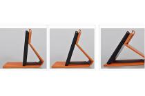 """Фирменный чехол с красивым узором для планшета Lenovo Tab 2 A8-50F/ A8-50L / A8-50LC (MediaTek MT8161 /8.0"""" IPS 1280*800)"""" синий натуральная кожа Италия"""