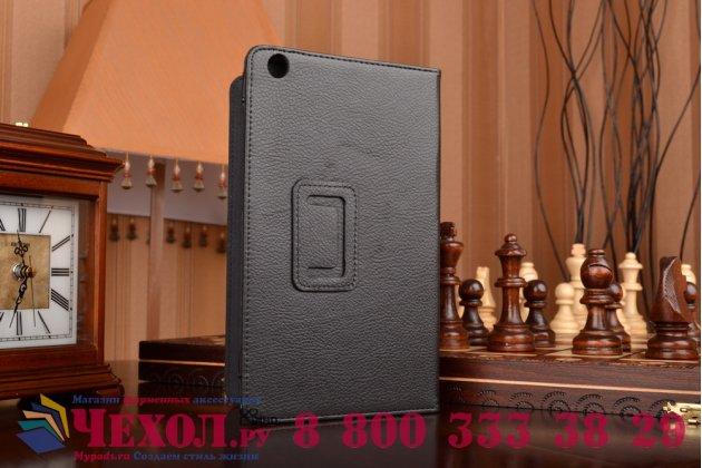 """Фирменный оригинальный чехол обложка с подставкой для Lenovo Tab 2 A8-50F (MediaTek MT8161/8.0"""" IPS 1280*800)/Tab 3 TB3-850F/850M LTE черный кожаный"""