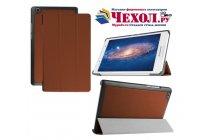 """Фирменный умный чехол-книжка самый тонкий в мире для Lenovo Tab 2 A8-50F/ A8-50L / A8-50LC """"Il Sottile"""" коричневый кожаный"""