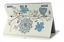 Фирменный необычный чехол для Lenovo Tab 3 Business X70L/ X70F/ TB3-X70L тематика Цветы