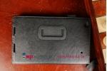 """Фирменный чехол обложка для Lenovo Thinkpad 8 с визитницей и держателем для руки черный натуральная кожа """"Prestige"""" Италия"""