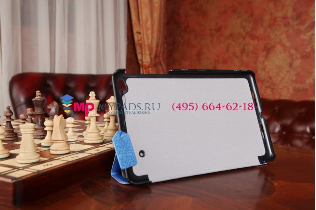 """Фирменный умный чехол самый тонкий в мире для Lenovo Thinkpad 8 дюймов """"Il Sottile"""" голубой пластиковый Италия"""