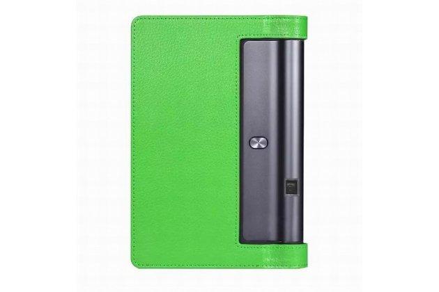 """Фирменный чехол подставка для Lenovo YOGA Tablet 3 Pro 10 (YT3-X90F/X90L/ 10.1"""" Windows 10) зеленый кожаный"""