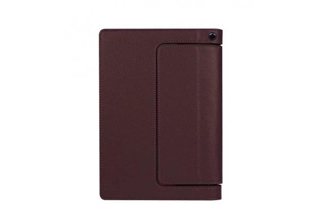 """Фирменный чехол закрытого типа с отделением под аккумулятор для Lenovo YOGA Tablet 3 Pro 10 (YT3-X90F/X90L/ 10.1"""" Windows 10) коричневый кожаный"""