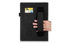 """Фирменный чехол бизнес класса для Lenovo YOGA Tablet 3 Pro 10 (YT3-X90F/X90L/ 10.1"""" Windows 10) с проэктором с визитницей и держателем для руки черный """"Prestige"""" Италия"""