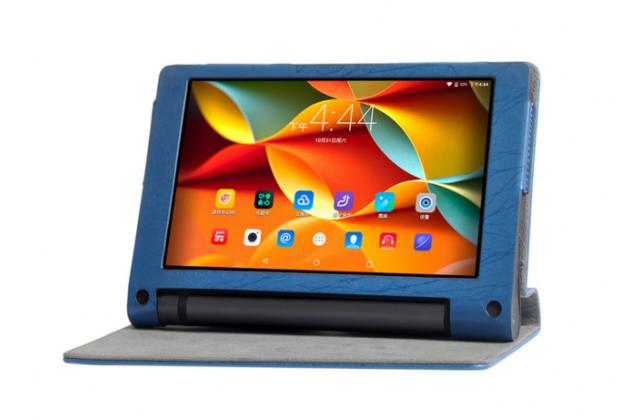 """Фирменный чехол с красивым узором для планшета Lenovo YOGA Tablet 3 Pro 10 (YT3-X90F/X90L/ 10.1"""" Windows 10) с проэктором"""" синий натуральная кожа Италия"""