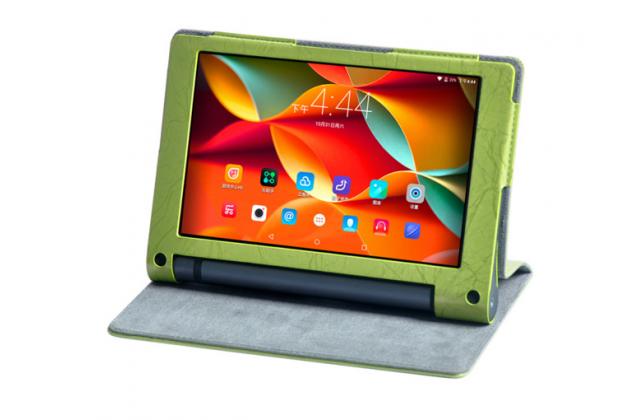 """Фирменный чехол с красивым узором для планшета Lenovo YOGA Tablet 3 Pro 10 (YT3-X90F/X90L/ 10.1"""" Windows 10) с проэктором"""" зеленый натуральная кожа Италия"""