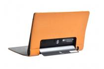 """Фирменный чехол с красивым узором для планшета Lenovo YOGA Tablet 3 Pro 10 (YT3-X90F/X90L/ 10.1"""" Windows 10) с проэктором"""" оранжевый натуральная кожа Италия"""