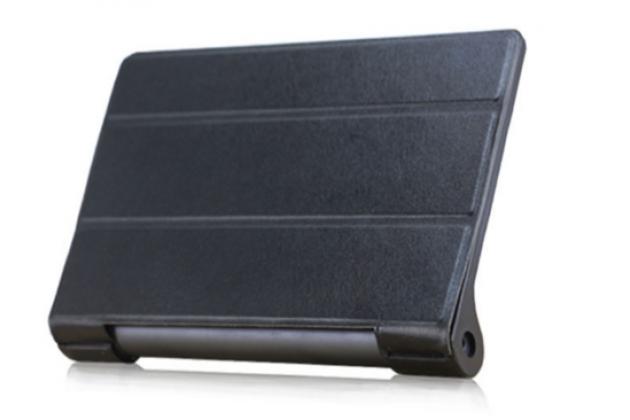 """Ультратонкий фирменный чехол-футляр-книжка для Lenovo YOGA Tablet 3 Pro 10 (YT3-X90F/X90L/ 10.1"""" Windows 10) с проэктором черный пластиковый"""