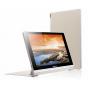 Фирменный чехол-футляр-книжка для Lenovo Yoga Tablet 10 HD+ B8080 золотой..