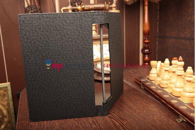 Фирменный чехол-обложка-книжка для Lenovo Yoga Tablet 10 B8000/B8080 черный кожаный